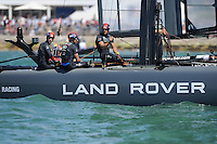 Sir Ben Ainslie (GBR), JULY 23, 2016 - Sailing: Sir Ben Ainslie (GBR) Land Rover BAR team principal and skipper and crew relax after the first race during day one of the Louis Vuitton America's Cup World Series racing, Portsmouth, United Kingdom. (Photo by Rob Munro/Stewart Communications)