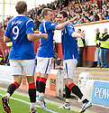 RANGERS' KYLE LAFFERTY CELEBRATES AFTER HE SCORES RANGERS' SECOND