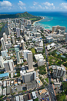 Aerial view of Waikiki and Diamond Head