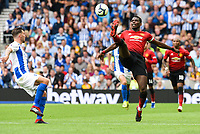 Paul Pogba of Manchester United (6) In action during the Premier League match between Brighton and Hove Albion and Manchester United at the American Express Community Stadium, Brighton and Hove, England on 19 August 2018. Photo by Edward Thomas / PRiME Media Images.