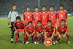 Players of Laos Team line up and pose for a photo prior to their AFF Suzuki Cup 2008 Group B match between Laos and Thailand at Surakul Stadium on 08 December 2008, in Phuket, Thailand. Photo by Stringer / Lagardere Sports