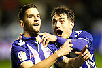 Deportivo Alaves' Edgar Mendez (l) and Ibai Gomez celebrate goal during Spanish Kings Cup semifinal 2nd leg match. February 08,2017. (ALTERPHOTOS/Acero)