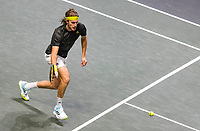Rotterdam, The Netherlands, 4 march  2021, ABNAMRO World Tennis Tournament, Ahoy, First round match: Stefanos Tsitsipas (GRE).<br /> Photo: www.tennisimages.com/