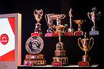 MEYDAN,DUBAI-MARCH 23: Trophies are exhibited in Dubai World Cup Post Position Draw at Meydan Theater on March 23,2016 in Meydan,Dubai (Photo by Kaz Ishida)