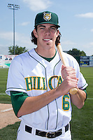 Bradley Zimmer (6) of the Lynchburg Hillcats poses for a photo prior to the game against the Frederick Keys at Calvin Falwell Field at Lynchburg City Stadium on May 14, 2015 in Lynchburg, Virginia.  The Hillcats defeated the Keys 6-3.  (Brian Westerholt/Four Seam Images)