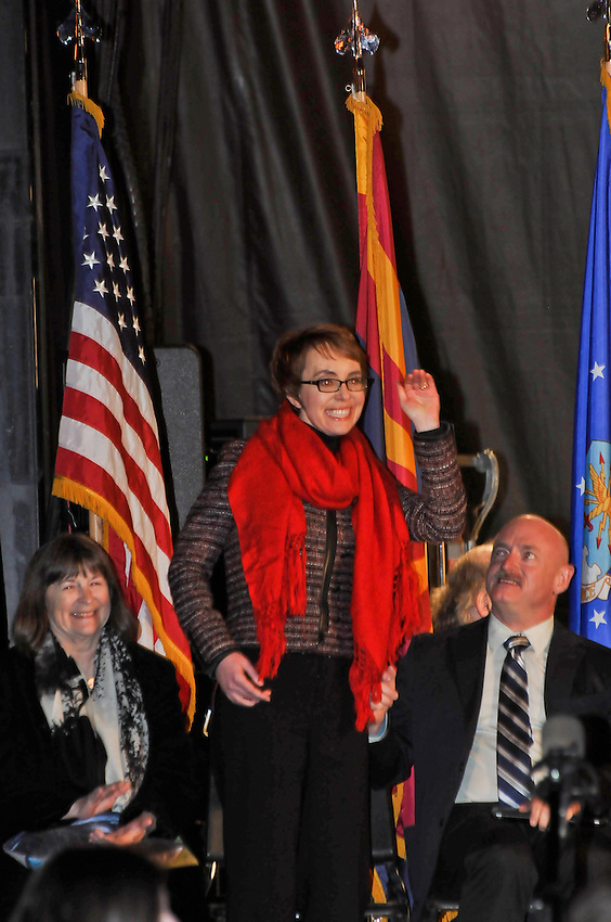 One year after she disappeared in the back of an ambulence Gabby Giffords came home to Tucson Arizona.  She stood on her own two feet and waved to all her friends and supporters. She had been reported dead on CNN and today stood before us. Gabby influence has founded a dozen funds and drives to build Civility, Respect and Understanding. Programs to stop bullying on the internet and on the playground have been enacted. Legislative officals have reached across the aisle and have shaken their fellow politicans hands. She has brought us all closer togeather.
