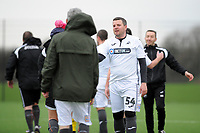 Pictured: Gareth Vincent. Wednesday 13 December 2018<br /> Re: Coaching staff v Members of the press game at the Fairwood Training Ground, Wales, UK.