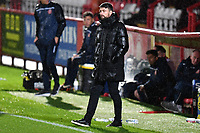 A wet MK Dons F.C.Manager Russell Martin during Stevenage vs MK Dons, EFL Trophy Football at the Lamex Stadium on 6th October 2020