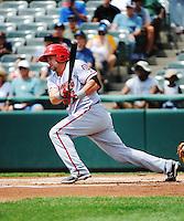 Harrisburg Senators outfielder Jerad Head (31) during game against the Trenton Thunder at ARM & HAMMER Park on July 31, 2013 in Trenton, NJ.  Harrisburg defeated Trenton 5-3.  (Tomasso DeRosa/Four Seam Images)