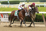 June 6 2015: March and Irad Ortiz, Jr. win the 31st running of the Grade II Woody Stephens Stakes for 3-year olds going 7 furlongs at Belmont Park.  Trainer Chad C. Brown. Owner Robert LaPenta. Sue Kawczynski/ESW/CSM