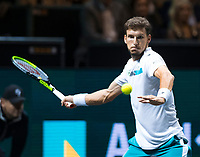 Rotterdam, The Netherlands, 15 Februari 2020, ABNAMRO World Tennis Tournament, Ahoy,<br /> Pablo Carreno Busta (ESP), Felix Auger-Aliassime (CAN).<br /> Photo: www.tennisimages.com