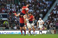 Alexandre Flanquart of France secures the re-start ball - 15/08/2015 - Twickenham Stadium - London <br /> Mandatory Credit: Rob Munro/Stewart Communications
