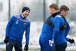 St Johnstone Training...   21.01.21<br />David Wotherspoon pictured with Liam Craig and Jason Kerr during training at McDiarmid Park ahead of Saturday's BetFred Cup semi-final against Hibs at Hampden.<br />Picture by Graeme Hart.<br />Copyright Perthshire Picture Agency<br />Tel: 01738 623350  Mobile: 07990 594431