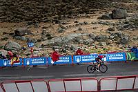 Tao Geoghegan Hart (GBR/Ineos) arriving at the finish<br /> <br /> Stage 20: Arenas de San Pedro to Plataforma de Gredos (190km)<br /> La Vuelta 2019<br /> <br /> ©kramon
