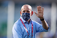 LAKE BUENA VISTA, FL - AUGUST 11: Don Garber, the Commissioner of Major League Soccer waiving before a game between Orlando City SC and Portland Timbers at ESPN Wide World of Sports on August 11, 2020 in Lake Buena Vista, Florida.