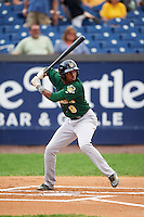 Lynchburg Hillcats center fielder Greg Allen (9) at bat during a game against the Wilmington Blue Rocks on June 3, 2016 at Judy Johnson Field at Daniel S. Frawley Stadium in Wilmington, Delaware.  Lynchburg defeated Wilmington 16-11 in ten innings.  (Mike Janes/Four Seam Images)