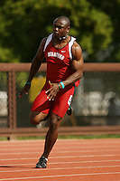 4 April 2007: Wopamo Osaisai during the Stanford Invitational at Cobb Track and Angell Field in Stanford, CA.