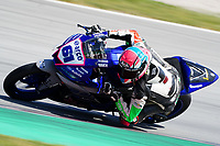 29th March 2021; Barcelona, Spain;  Superbikes, WorldSSP300 , day 1 testing at Circuit Barcelona-Catalunya; Iker Garcia (ESP) riding Yamaha YZF-R3 from Arco Motor University Team