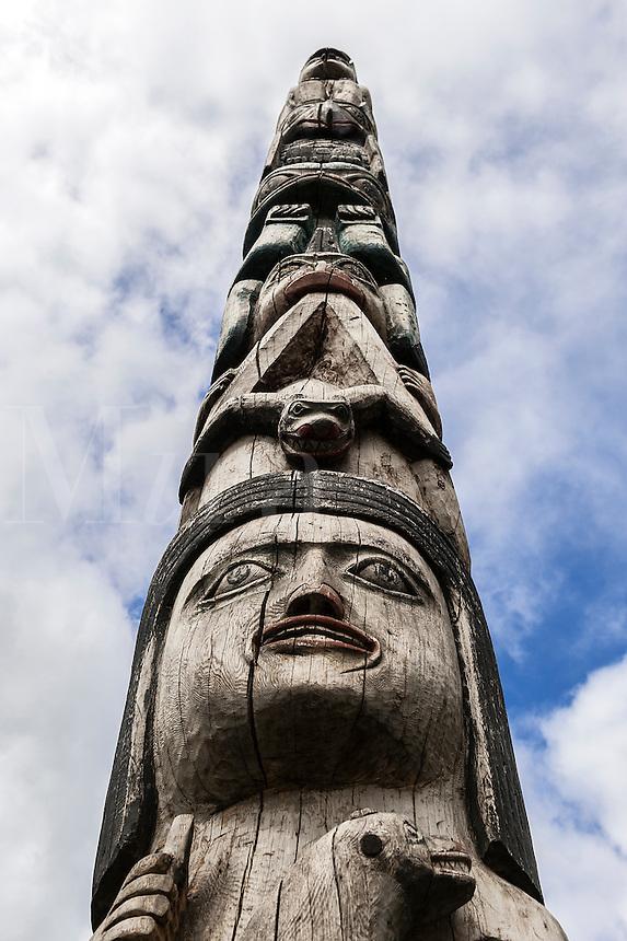Totem pole detail, Juneau, Alaska, USA