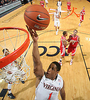 Dec. 07, 2010; Charlottesville, VA, USA;  Virginia Cavaliers guard Jontel Evans (1) shoots the ball during the game against the Radford Highlanders at the John Paul Jones Arena. Virginia won 54-44. Mandatory Credit: Andrew Shurtleff