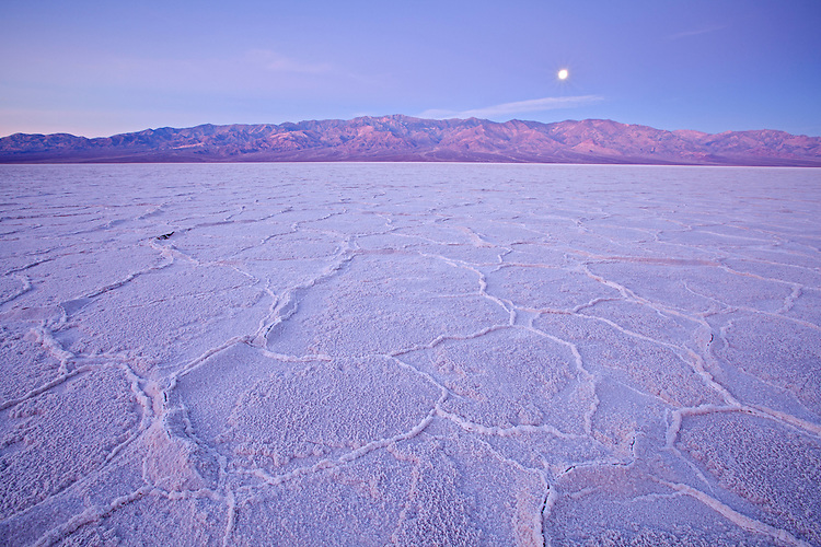 Badwater Salt Flats in Death Valley National Park, California, USA