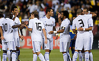 Real Madrid celebrate their goal. Real Madrid defeated Club America 3-2 at Candlestick Park in San Francisco, California on August 4th, 2010.