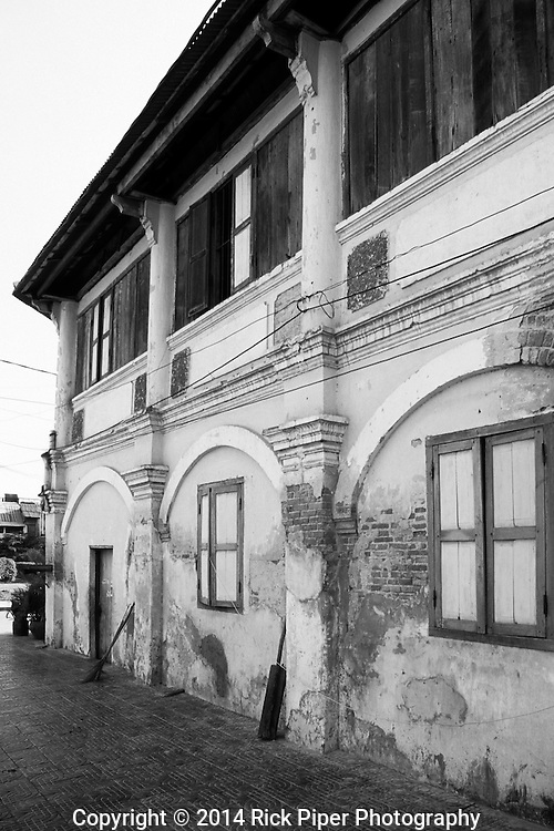 Kampot Old Colonial 06<br /> Weathered decaying old French colonial building in the centre of Kampot town, Cambodia, by Rick Piper Photography