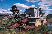 USA, Alaska, Bagger in der Goldmine Golddredge Nr. 8 bei Fairbanks