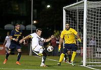 College Park, MD - Sunday November 6, 2016: Maryland defeated Michigan 3-2 in a Big 10 tournament quarter-final match at Ludwig Field.