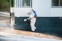 SÃO PAULO, SP, 29.05.2020: Higienização de Hospitais - Hospital Municipal de Pirituba ( Dr. José Soares Hungria ) recebeu nesta sexta - feira a higienização nas entradas e saídas  do Hospital , como medida de prevenção ao combate da Covid - 19