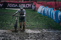 cx world champion Ceylin del Carmen Alvarado (NED/Alpecin-Fenix) plowing through the mud<br /> <br /> UCI cyclo-cross World Cup Dendermonde 2020 (BEL)<br /> Women's Race<br /> <br /> ©kramon
