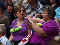 England, London, 23.06.2014. Tennis, Wimbledon, Fans<br /> Photo:Tennisimages/Henk Koster
