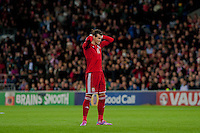 Wednesday 4th  December 2013 Pictured: Gareth Bale of Wales <br /> Re: UEFA European Championship Wales v Cyprus at the Cardiff City Stadium, Cardiff, Wales, UK