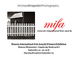 22 of my MIFA award-winning photographs were included in an exhibit at the Moscow Photocenter, Gogolevsky Boulevard 8, Moscow, Russia from September 19 - 22, 2018.