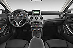 Straight Dashboard view of 2015 Mercedes Benz GLA-Class 250 5 Door SUV Stock Photo