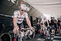 John Degenkolb (DEU/Trek-Segafredo) warming up pre-race<br /> <br /> 104th Tour de France 2017<br /> Stage 16 - Le Puy-en-Velay › Romans-sur-Isère (165km)
