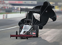 Aug 31, 2019; Clermont, IN, USA; NHRA top fuel driver Pat Dakin during qualifying for the US Nationals at Lucas Oil Raceway. Mandatory Credit: Mark J. Rebilas-USA TODAY Sports