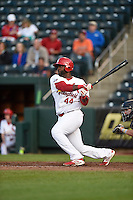 ***Temporary Unedited Reference File***Springfield Cardinals designated hitter Chris Jacobs (44) during a game against the Northwest Arkansas Naturals on April 26, 2016 at Hammons Field in Springfield, Missouri.  Northwest Arkansas defeated Springfield 5-2.  (Mike Janes/Four Seam Images)