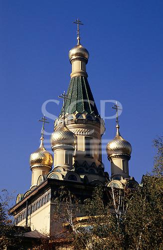 Sofia, Bulgaria. Russian orthodox church of St Nicholas.