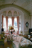 Arbury Hall: Drawing Room. Gothic style. Warwickshire, England