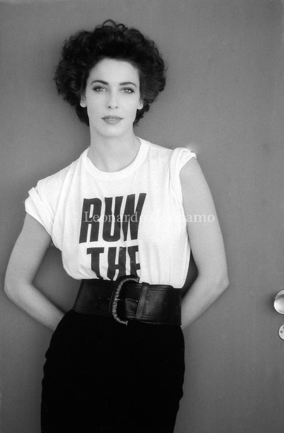 Clarissa Burt, è un'attrice ed ex modella statunitense naturalizzata italiana che ha lavorato a lungo in Italia. Milano, 03 maggio 1988. Photo by Leonardo Cendamo/Getty Images