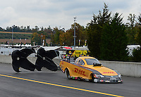 Oct. 7, 2012; Mohnton, PA, USA: NHRA funny car driver Jeff Arend during the Auto Plus Nationals at Maple Grove Raceway. Mandatory Credit: Mark J. Rebilas-