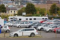 2018 10 05 Caravans at the Council car park, Swansea, UK