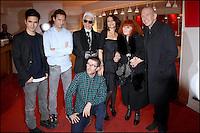 LOIC PRIGENT, LAZARO HERNANDEZ, JACK MCCOLLOUGH,KARL LAGERFELD, NATHALIE RYKIEL, SONIA RYKIEL & JEAN PAUL GAULTIER - PROJECTION DU DOCUMENTAIRE ' LE JOUR D'AVANT ' AU CINEMA L'ARLEQUIN.