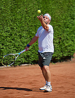 Netherlands, Amstelveen, August 23, 2015, Tennis,  National Veteran Championships, NVK, TV de Kegel,  Final men's 40+, Taavi Suorsa<br /> Photo: Tennisimages/Henk Koster