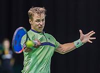 Rotterdam, Netherlands, 10 februari, 2018, Ahoy, Tennis, ABNAMROWTT, Qalifying, Ricardas Berankis <br /> Photo: Henk Koster/tennisimages.com