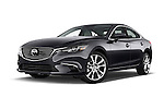 Stock pictures of low aggressive front three quarter view of a 2016 Mazda 6 i Grand Touring Auto 4 Door Sedan