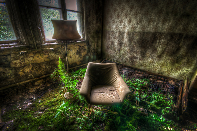 Old chairs in a forgotten hotel in East Germany