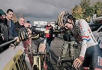 victory for Ellen Van Loy (BEL/Telenet Fidea Lions) after a tough battle to the finish with runner-up Nikki Brammeier (GBR/Doels-Bolmans)<br /> <br /> Women's race<br /> Superprestige Gavere / Belgium 2017