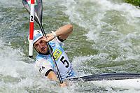 4th September 2021; Parc Olimpic del Segre, La Seu D'Urgell ICF Slalom World Cup, men's Kayak Final;  Giovanni De Dennaro (ITA)